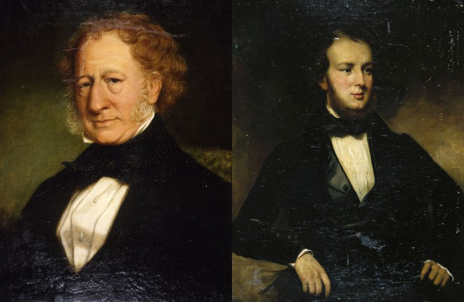 Portraits of William Mein Smith and Almon Boulcott ca 1860 by William Beetham, 1809-1888.