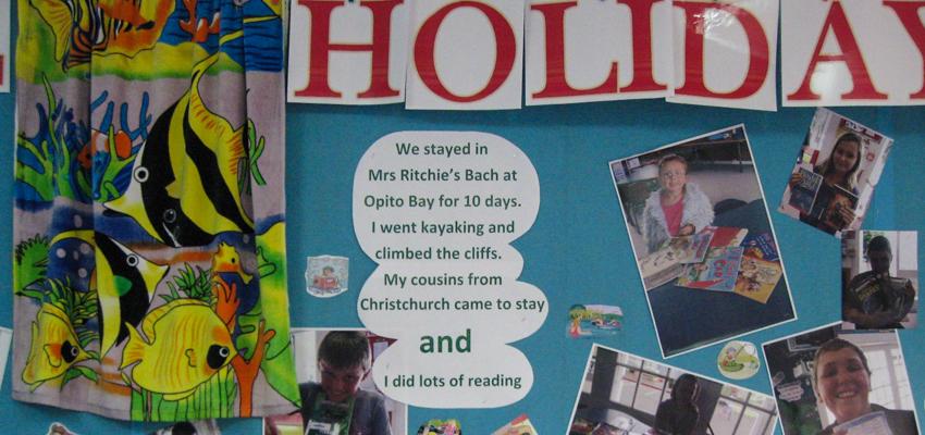 Summer reading display.