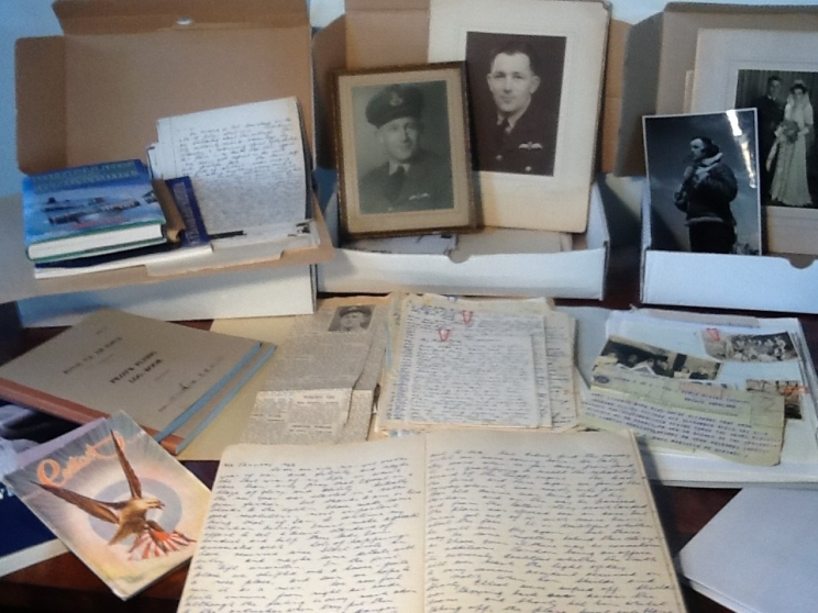 Letters, photos and diaries of Rex Weber from the personal family collection.