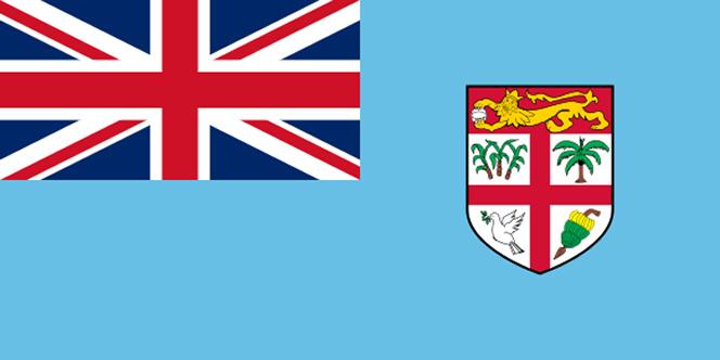 Fijian Flag with the UK flag in the left corner