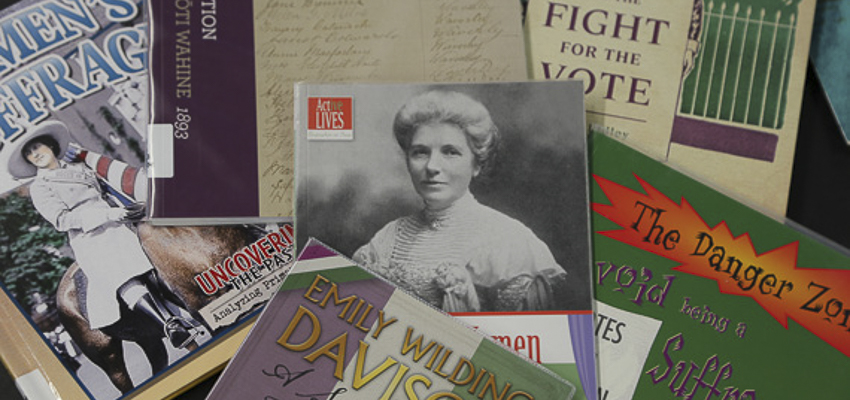 Book resources on aspects of the fight for Women's equality.