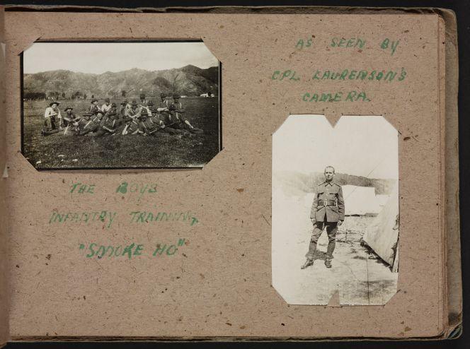 Album of photographs of military training, Trentham Camp.