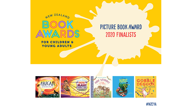 New Zealand Book Awards for Children and Young Adults Picture Book Award 2020 Finalists — book covers and #NZCYA