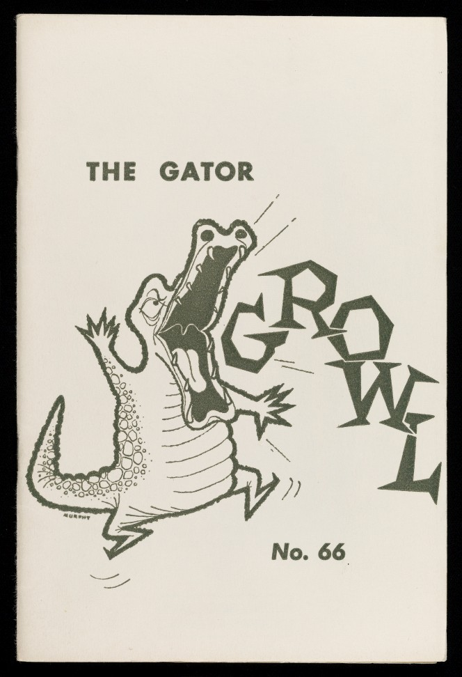 Cover of the gator growl, illustrated with a cartoon gator.
