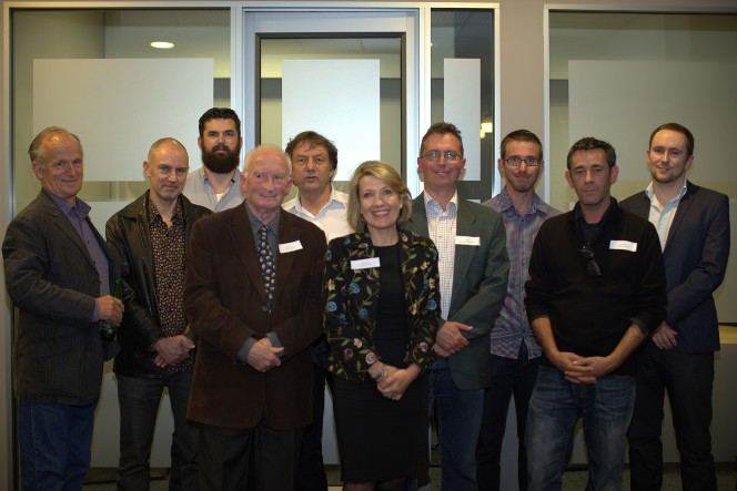 Judges and winners at the Young Cartoonist Award function