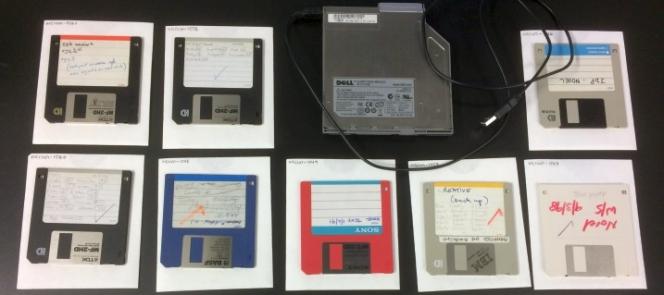 Floppy disks.