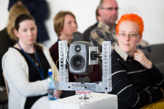Bridget Johnson's mechatronic speaker system.
