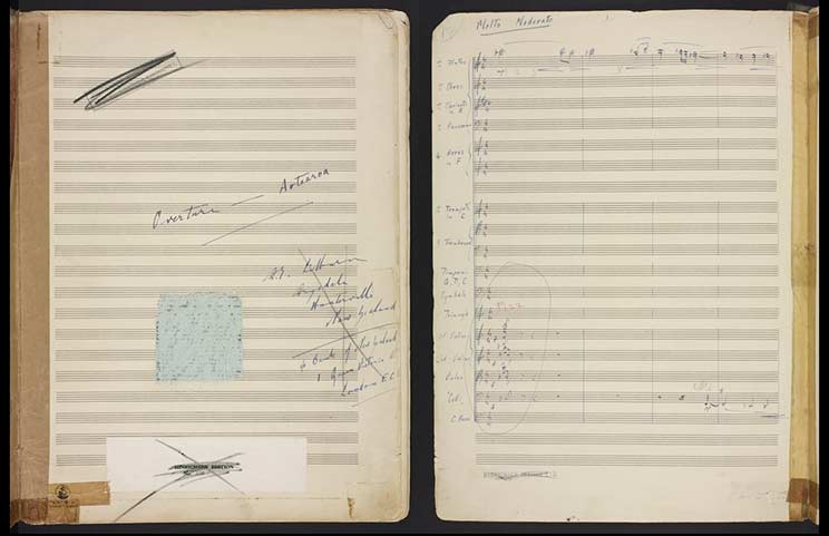 Handwritten music manuscript.