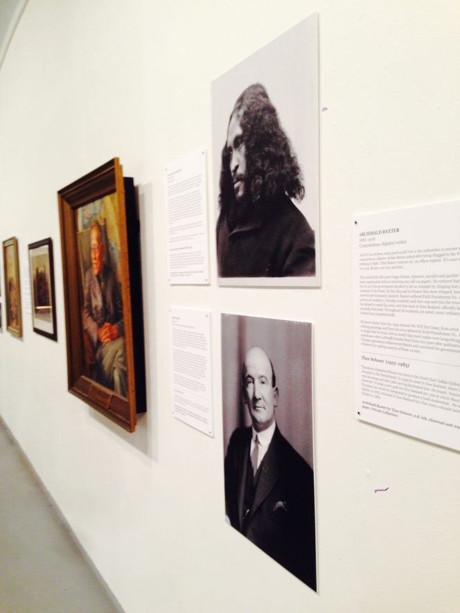 Photographic portraits of Paddy Webb and Rua Kenana sourced from the Turnbull on display in the exhibition Facing the Front at the New Zealand Portrait Gallery.