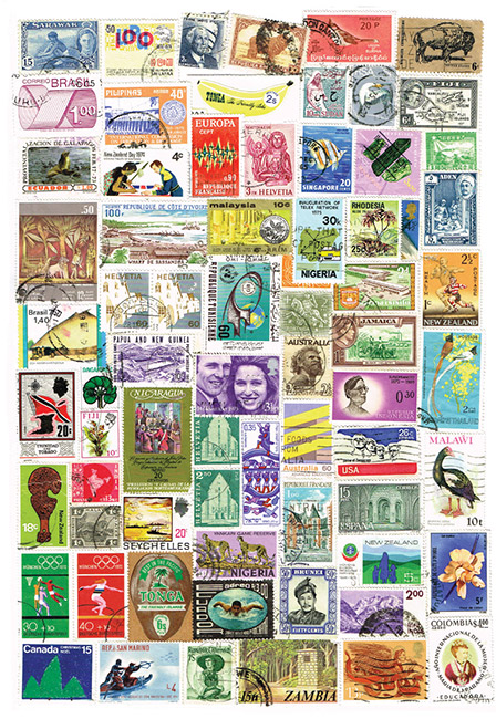 A collection of over 60 postage stamps of different shapes and sizes from NewZealand and other countries around the world.  [Stamps](/files/schools/hm04-stamps-english.mp3)