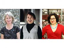 Triptych of authors.