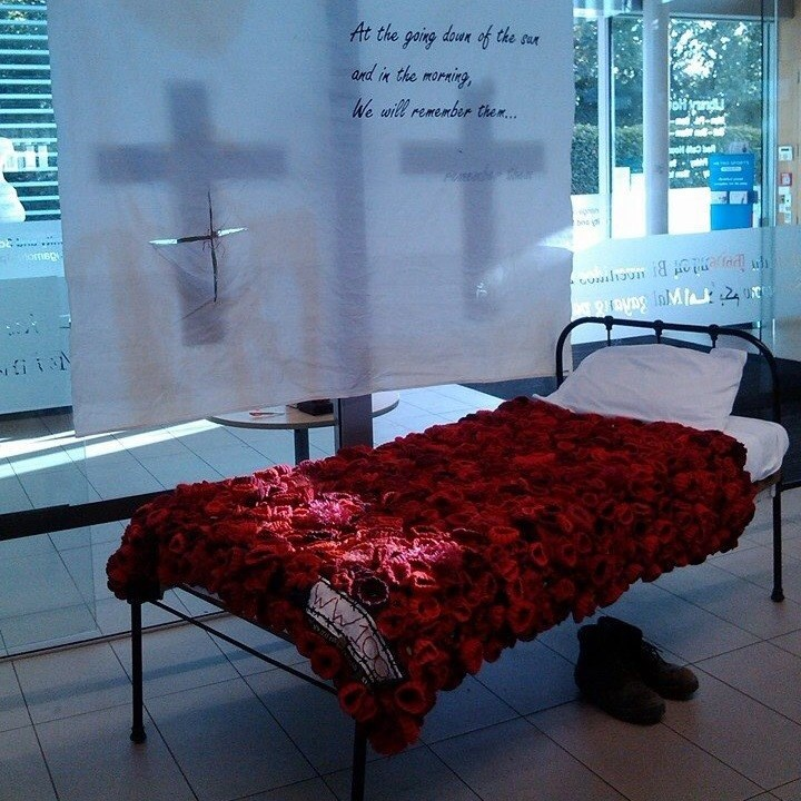 Riccarton High School ANZAC poppy blanket