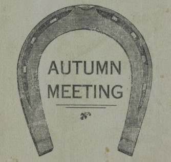 A horseshoe with the text 'Autumn Meeting' in the centre.