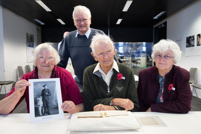 The children of Hartley Palmer, daughter Margaret Kearns, son Noel Palmer, son Ellis Palmer, and Daughter in-law Beth Palmer, who was married to Bevan Palmer.