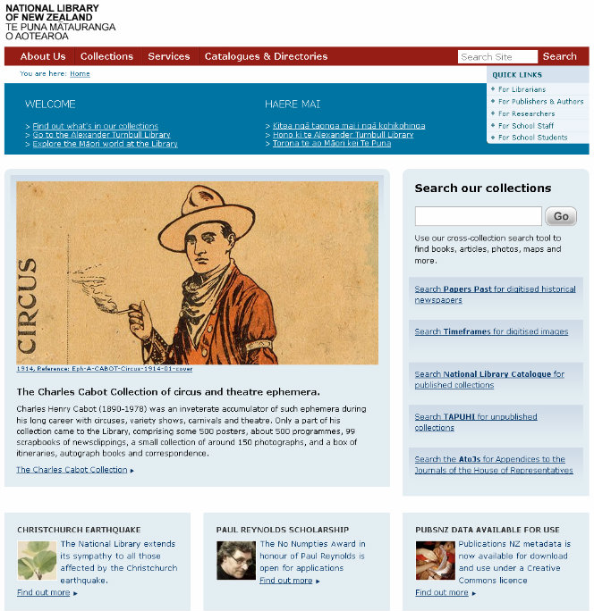 The National Library website - plone edition.