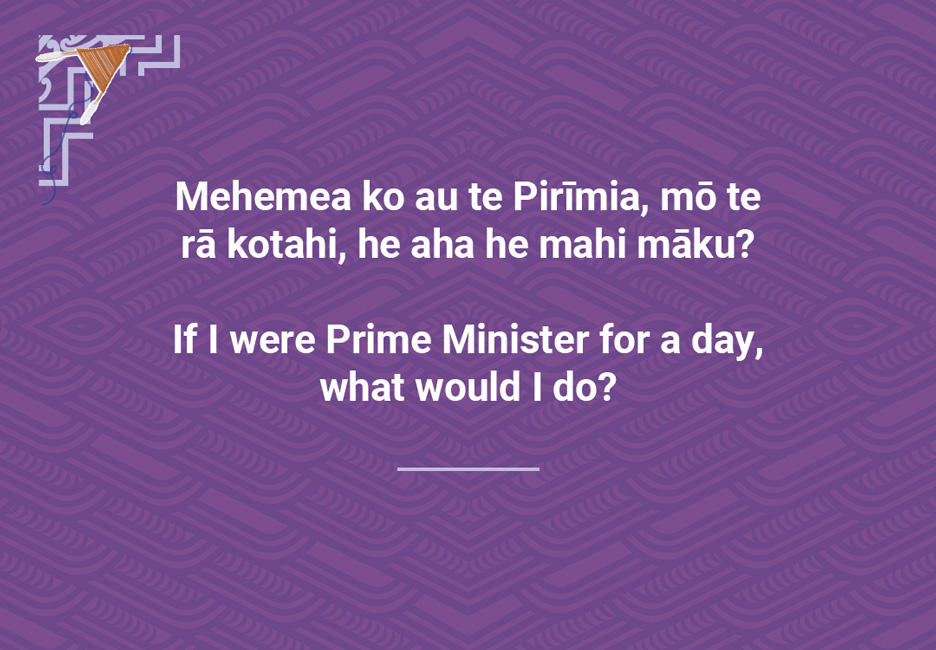 If I were Prime Minister for a day, what would I do?  [Prime Minister for a day](/files/schools/hm79-prime-minister-for-a-day-english.mp3)