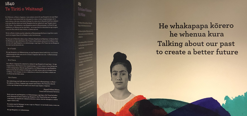 Image of girl alongside text about He Tohu