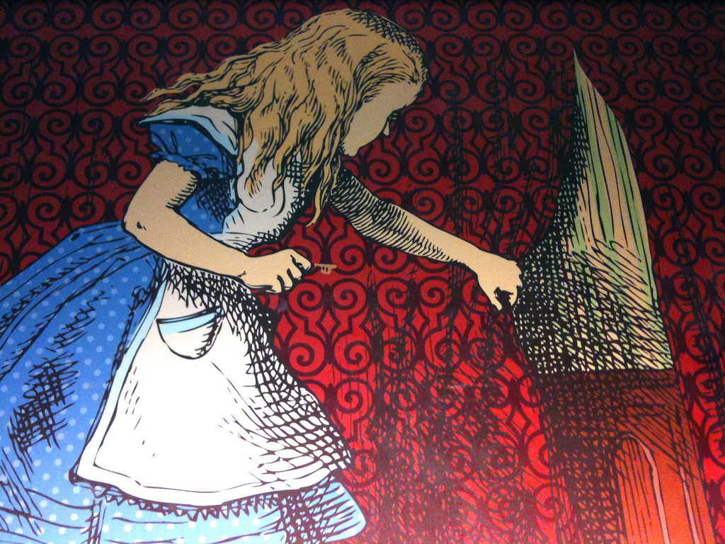 Cartoon of Alice in Wonderland.
