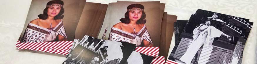 Postcards promoting Pūkana featuring Dame Kiri te Kanawa and Tina Cross.