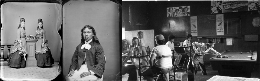 Triptych of photos from the photographic archive.