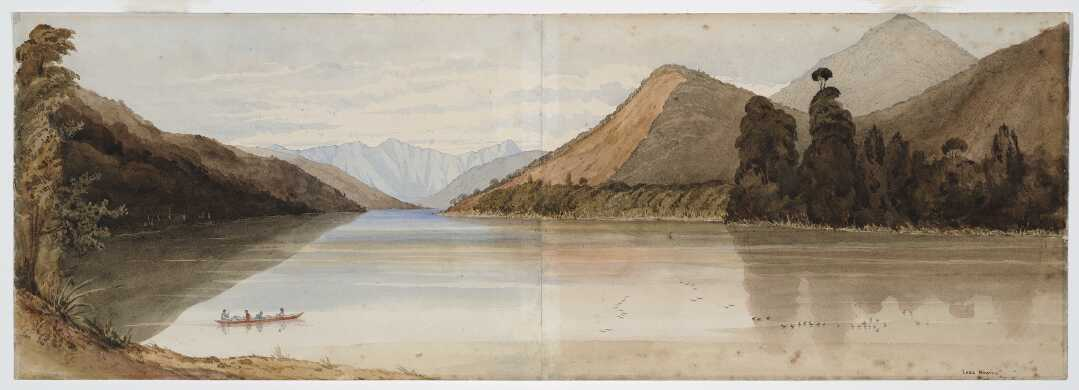 A painting of Lake Howick.