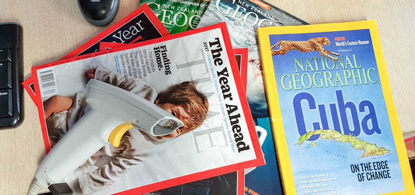 Magazines are popular is school libraries.