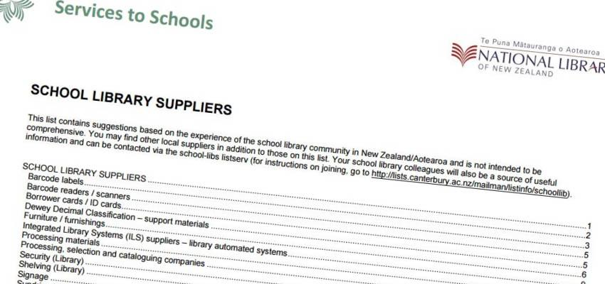 Suppliers list.