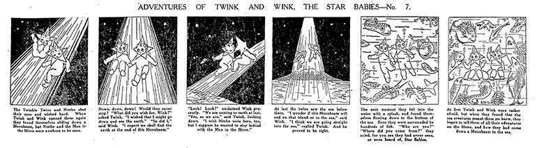 Comic strip Adventures of Twing and Wink, The Star Babies— no. 7.