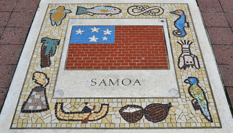 Samoa tile pavement artwork