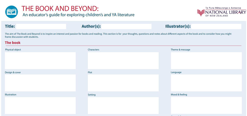 Screenshot of the Book and Beyond guide