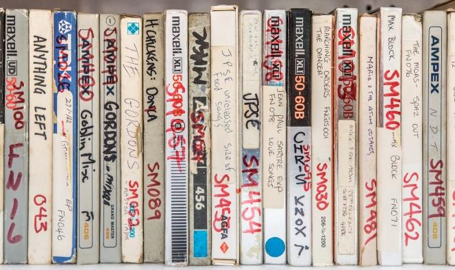 Reel-to-reel tape recordings.