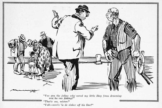 Minhinnick jewish cartoon.