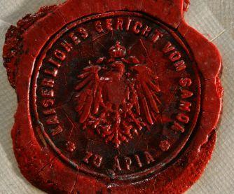 German samoa wax seal.