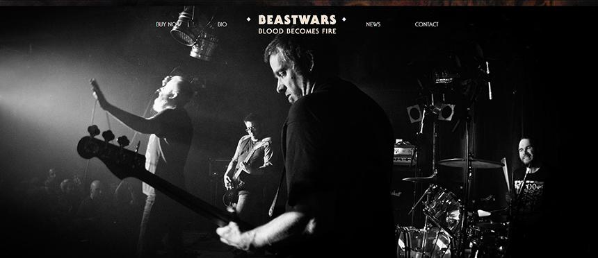 Beastwars musicians on stage performing.
