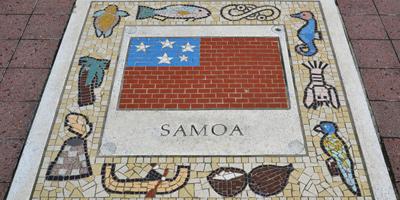 Samoa tile artwork
