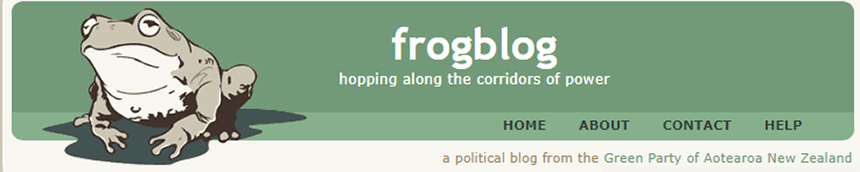 frogblog, hopping along the corridors of power. A political blog from the Green Party of Aotearoa New Zealand