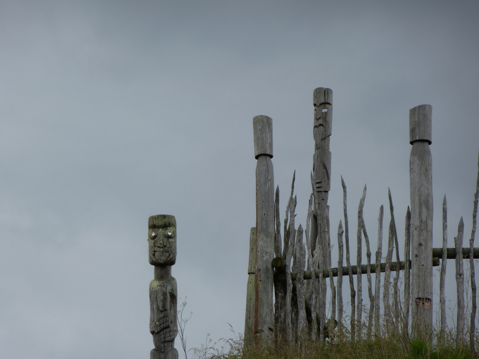Shows the top an old Maori fort;Otatara Pa.