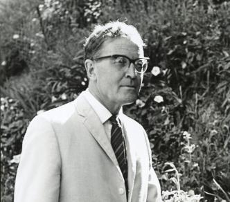 Full body photo of Douglas Lilburn.