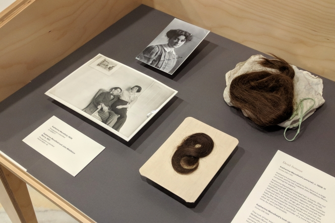 The exhibition 'Death & Desire: Hair in the Turnbull Collections'.