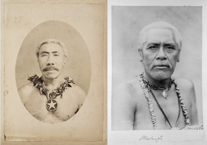 Tamasese Titimaea and Mata'afa Iosefa, contenders for royal status in the Samoan civil wars prior to the German occupation in 1899.