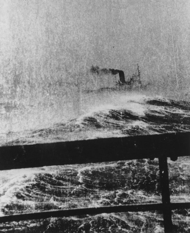 Onboard the Wahine during a storm.