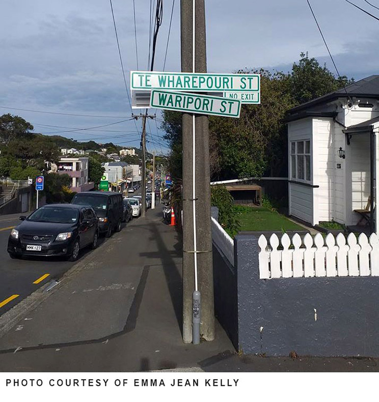 Street signs in Wellington