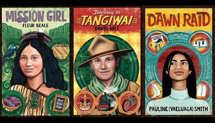 Three book covers from the 'My New Zealand Story' series