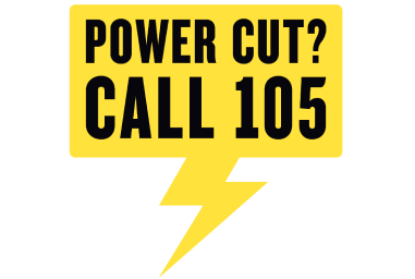 Power Cut? Call 105 graphic