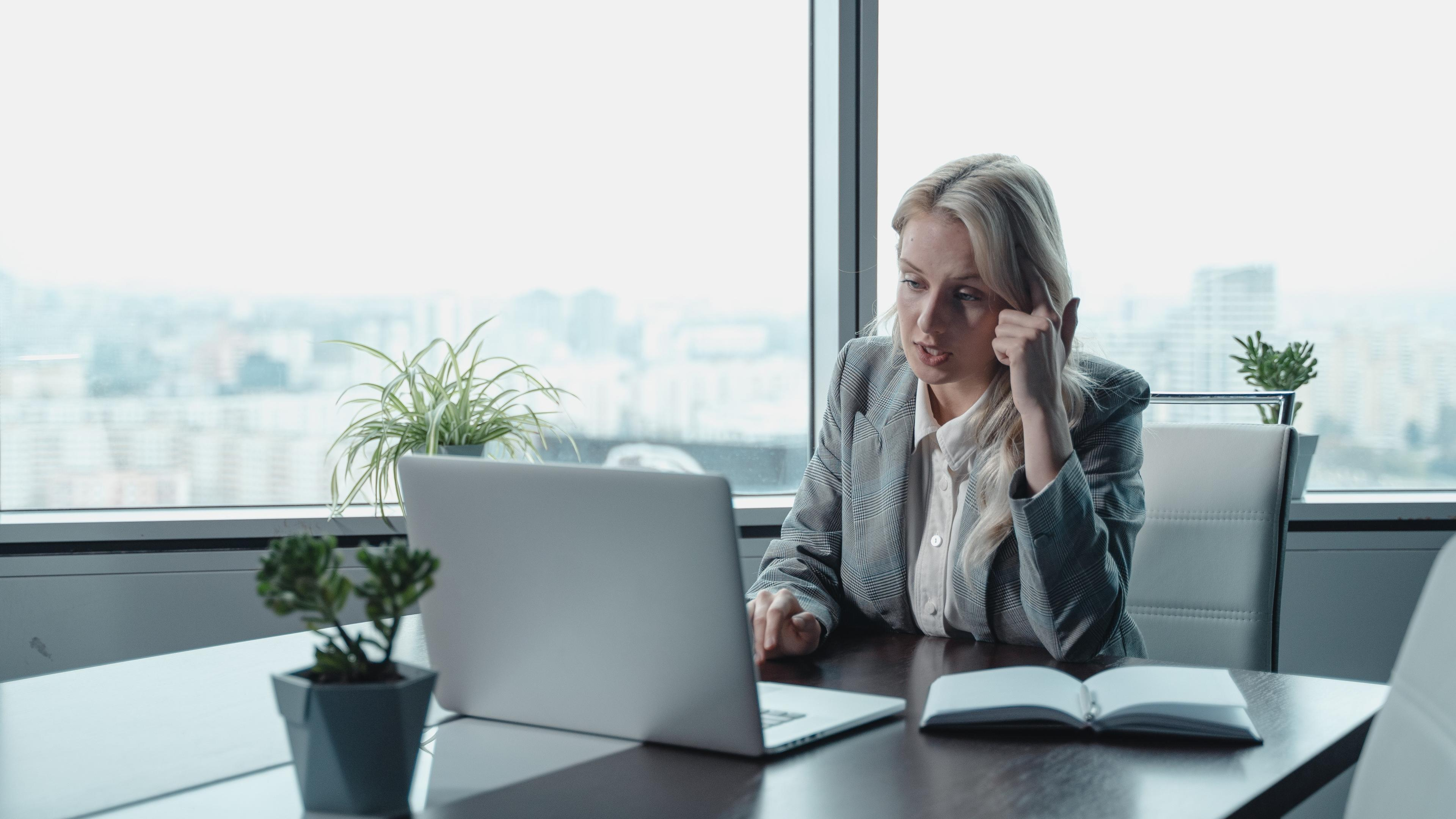 Woman in an office working