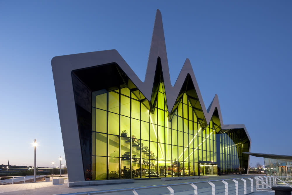 Riverside Museum, designed by Zaha Hadid, was voted European Museum of the Year in 2013.