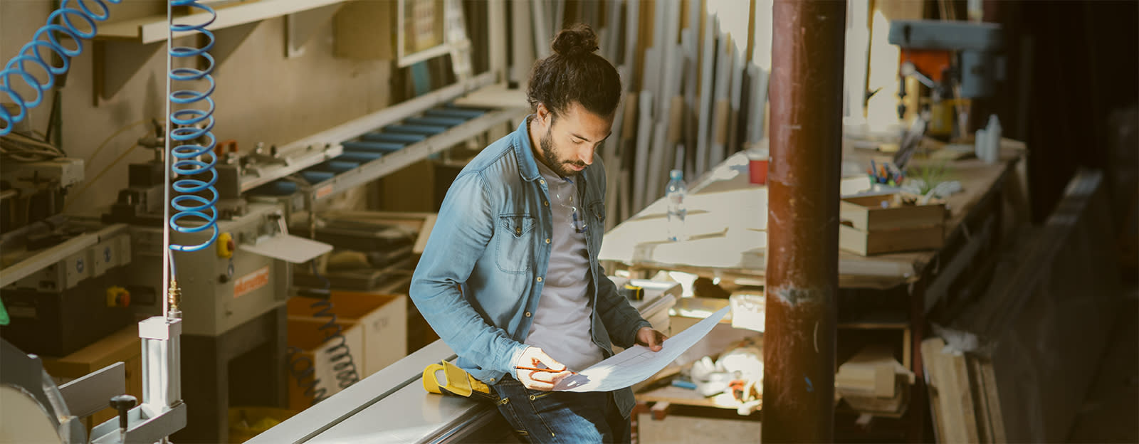 A man in a workshop