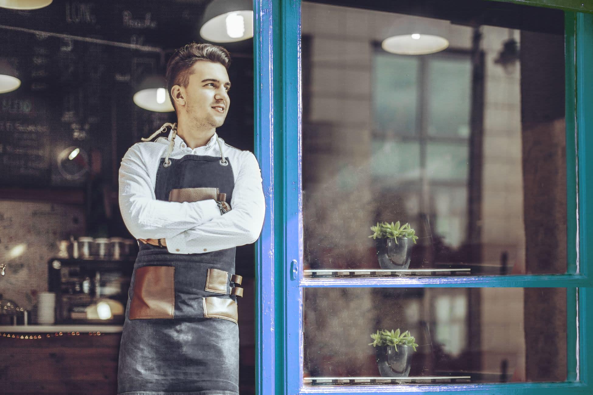 Coffee shop worker
