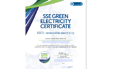 SSE Green Electricity certificate