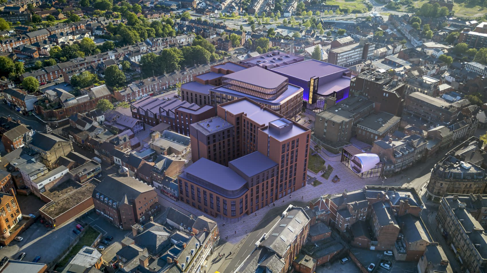 Aerial from North East